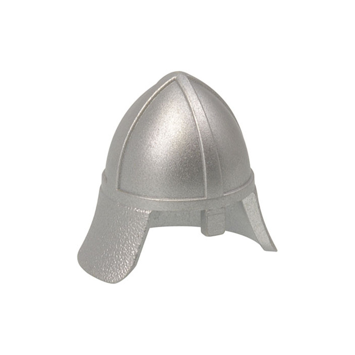 Lego Castle 5x Metallic Silver Helmet Nose Protector Knights New Pieces