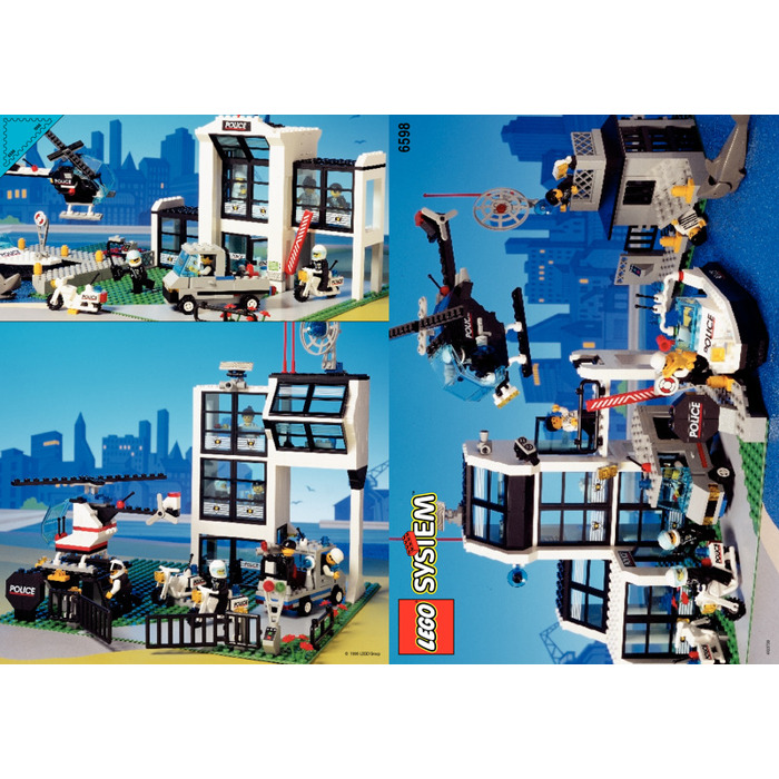 Lego Police Station 6598 Instructions Manual Guide Example 2018