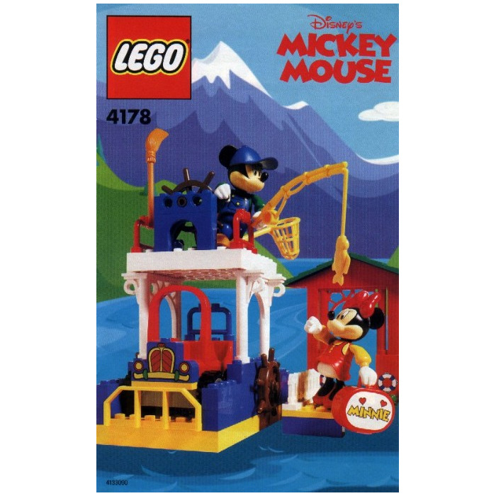 Lego mickey 39 s fishing adventure set 4178 inventory brick for Fishing lego set