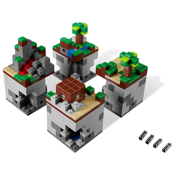 Lego minecraft micro world the forest set 21102 brick for Lego world craft