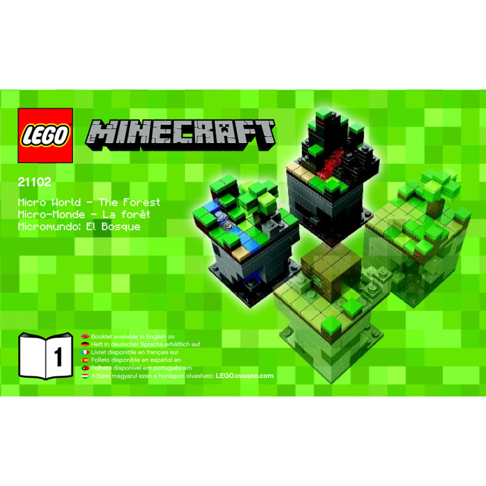 Lego minecraft micro world the forest set 21102 for Lego world craft