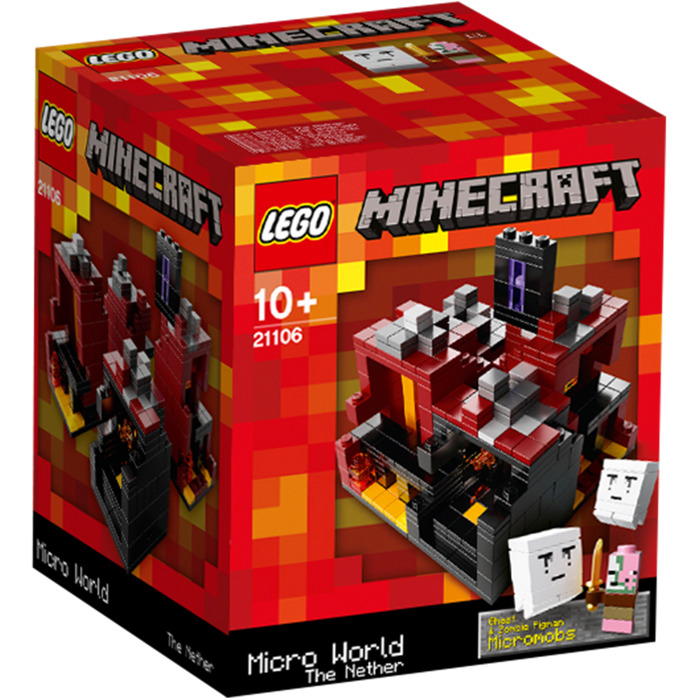 Lego minecraft micro world the nether set 21106 brick for Lego world craft