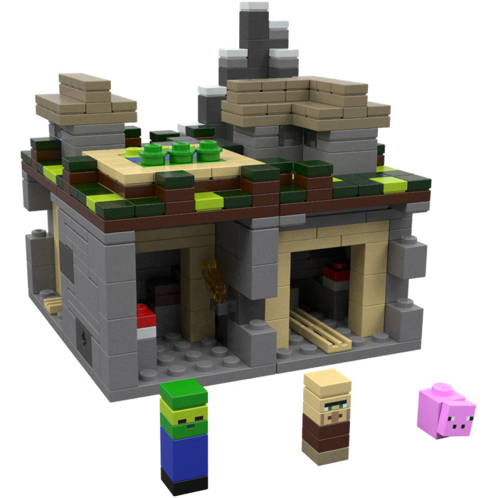 Lego minecraft micro world the village set 21105 brick for Lego world craft