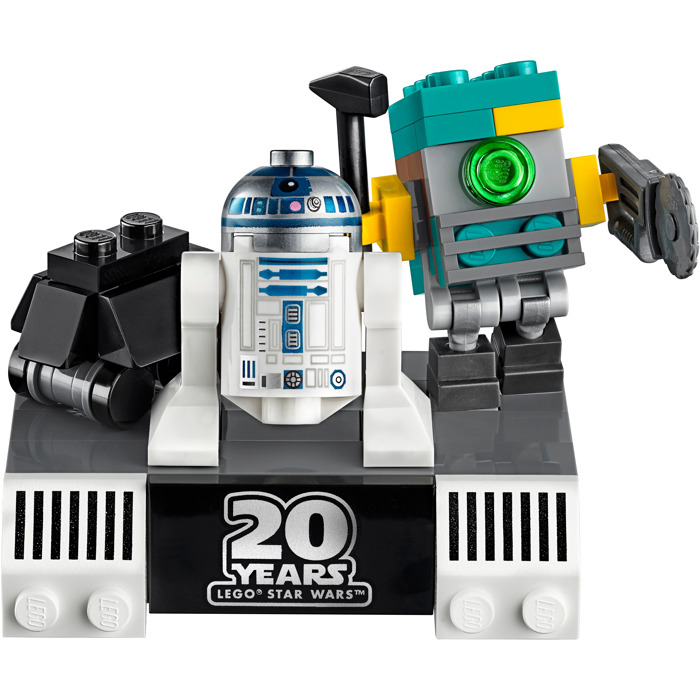 R2-D2 MiniFigure Set 75136 LEGO Star Wars Flat Silver Head, Lavender Dots