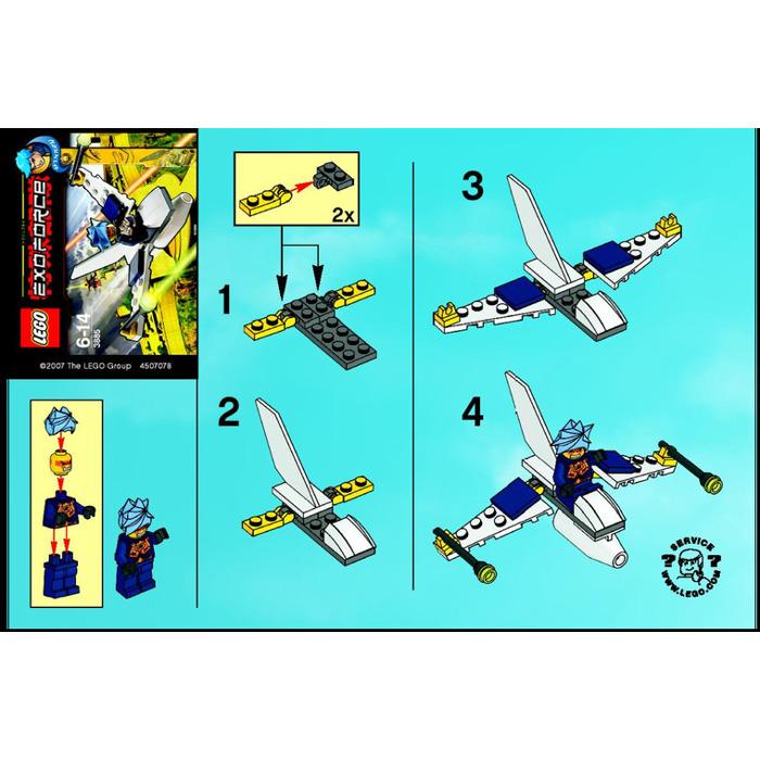 Lego Mini Jet Fighter Set 3885 Instructions Brick Owl Lego