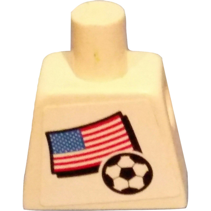 LEGO Minifig Torso with USA Soccer Field Player and Number 2 | Brick