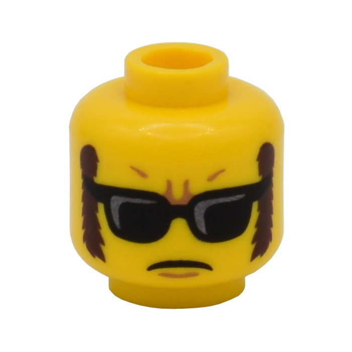 LEGO Yellow Minifig Head Female Glasses Star Shaped 1 Part Piece 3626cpb1230