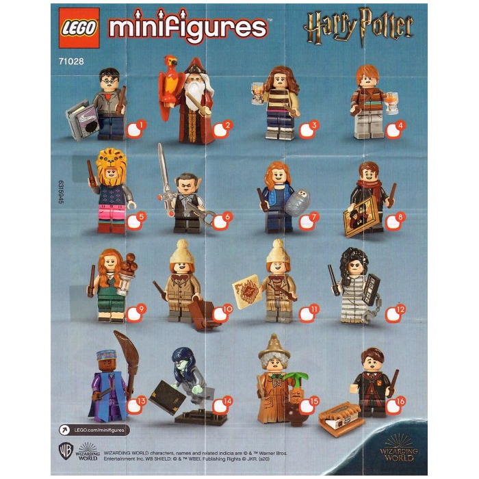 71028 MINIFIGURES Lego Harry Potter Series 2 Complete Set of 16