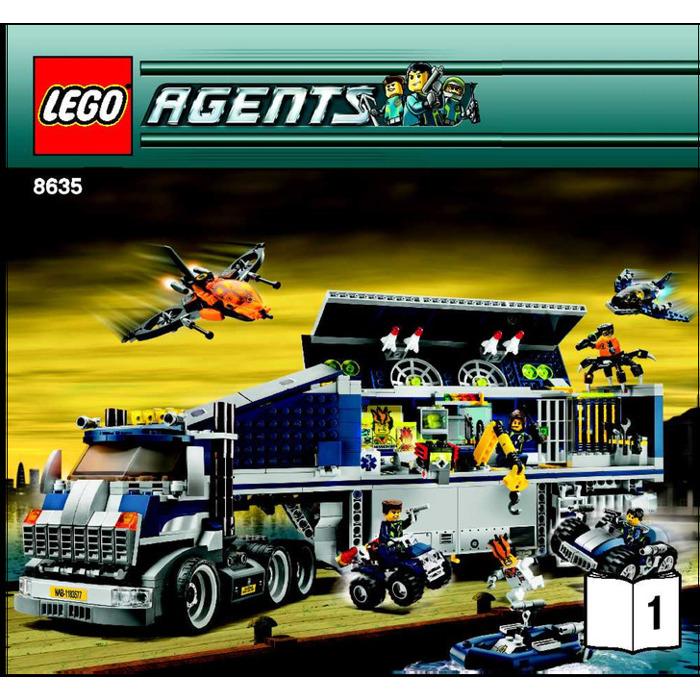 Lego Mobile Command Center Set 8635 Instructions Brick Owl Lego