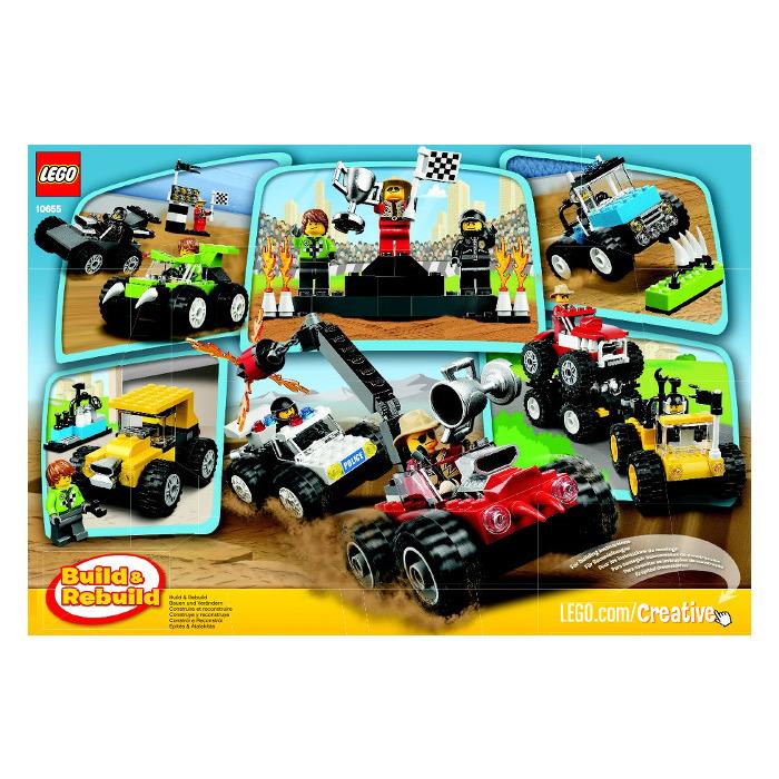 Lego Monster Trucks Set 10655 Instructions Brick Owl Lego
