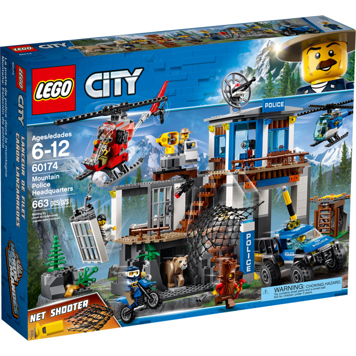 lego mountain police headquarters set 60174 packaging brick owl