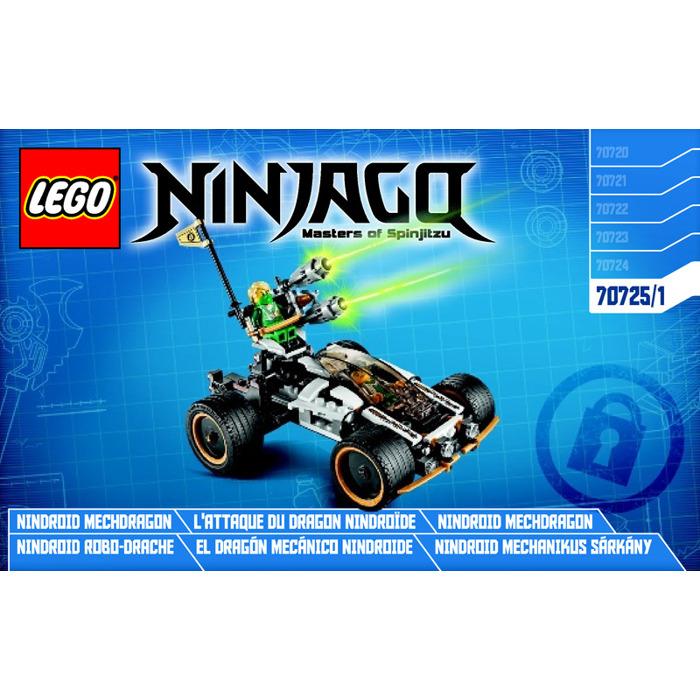 New Lego Instruction Manual ONLY for Ninjago Nindroid MechDragon Set 70725