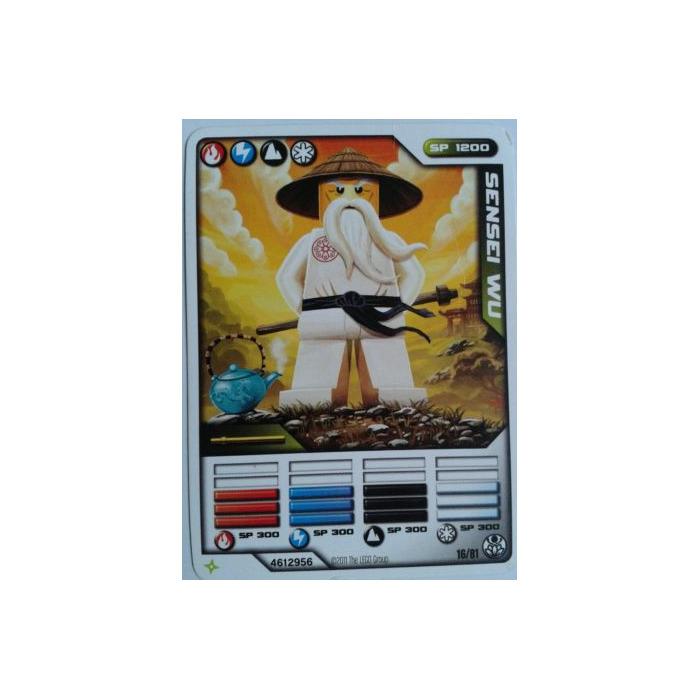 lego ninjago deck number 1 game card 16 sensei wu 93844 brick