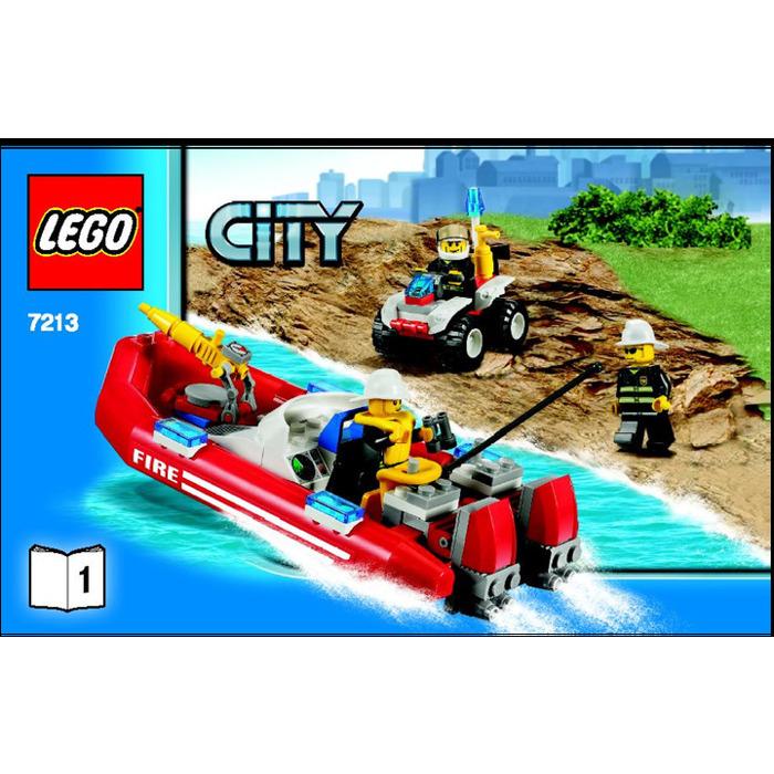 Lego Off Road Fire Truck Fireboat Set 7213 Instructions Brick