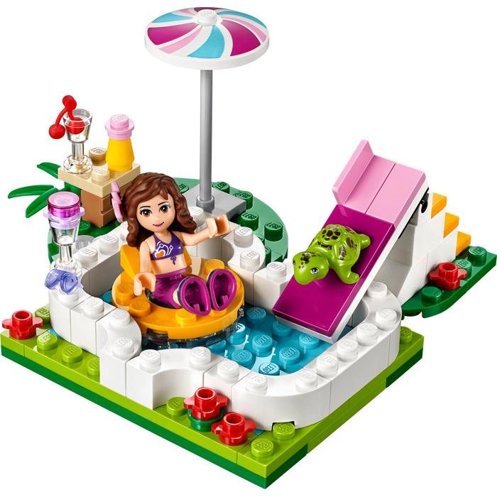 Lego olivia 39 s garden pool set 41090 brick owl lego for Lego garden pool