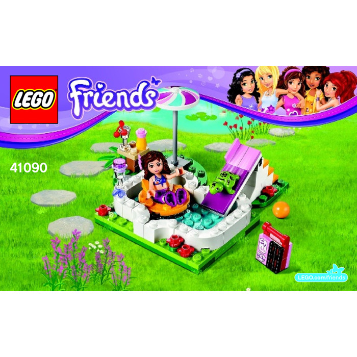 lego olivia 39 s garden pool set 41090 instructions brick