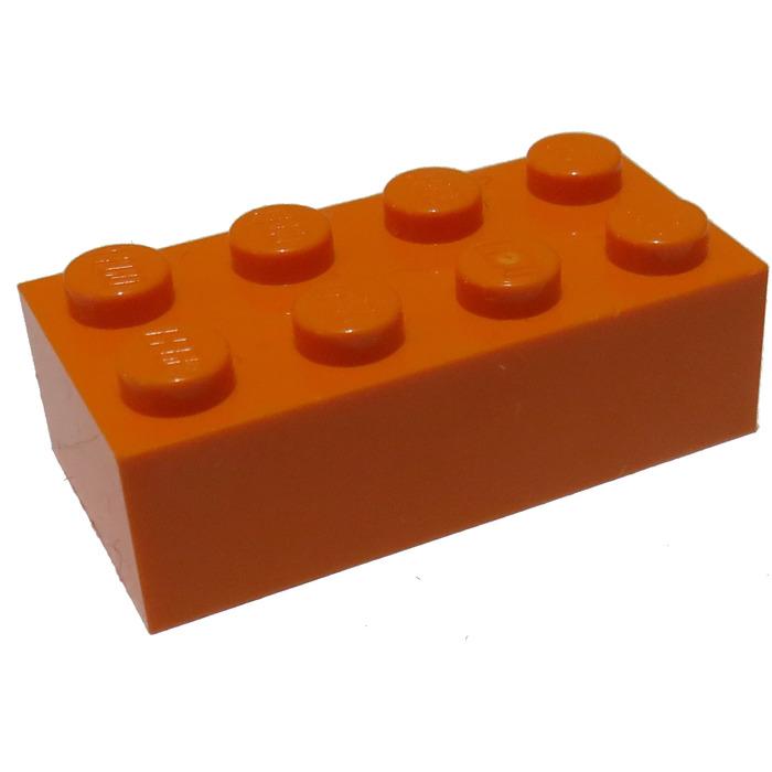 LEGO Orange Brick 2 x 4 (3001) | Brick Owl - LEGO Marketplace
