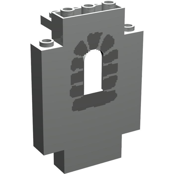 LEGO 4444pb04 @ Panel Wall /& Window Stones /& 2 Columns Pat @ 6036 6090 9376