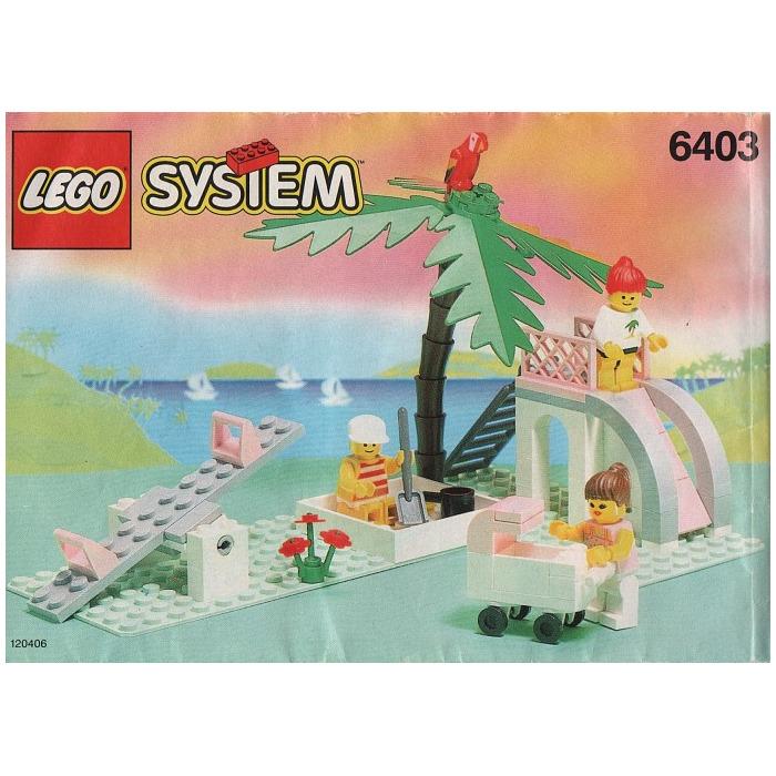 Part 2518 Set 6292 6270 Large 10x6 Studs Tree Palm Leaf LEGO 1 Green Plant
