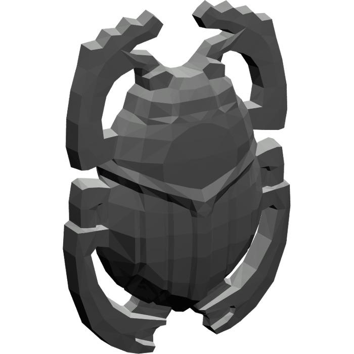 Minifig Shield Scarab // Beetle Pearl Dark Gray LEGO