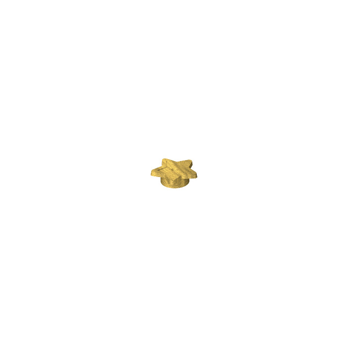 Lego Pearl Gold Star Symbol Star With Tube And Hole 15 11609