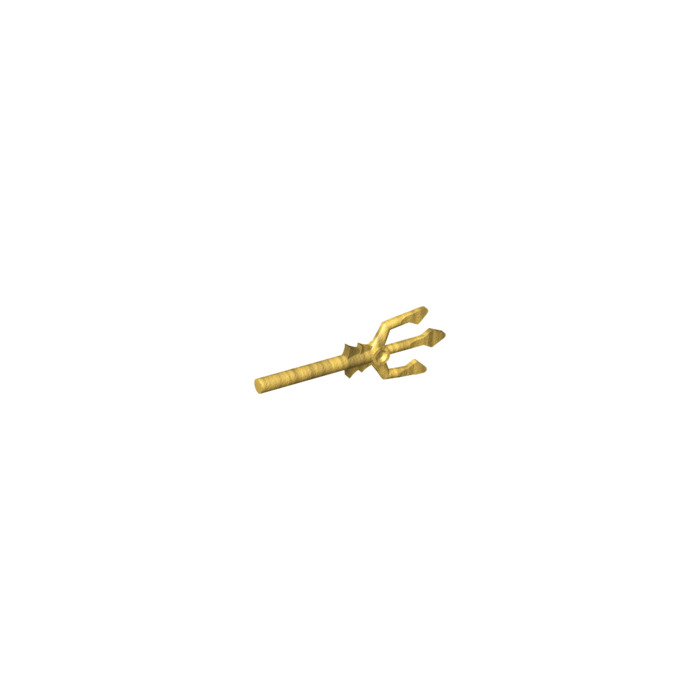 Lego Pearl Gold Trident  – NEW - Part 92290 Accessory for Minifigure Disney