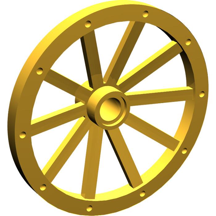 // ,2 parts 33211 Lego pearl gold wheel wagon huge 43mm D.