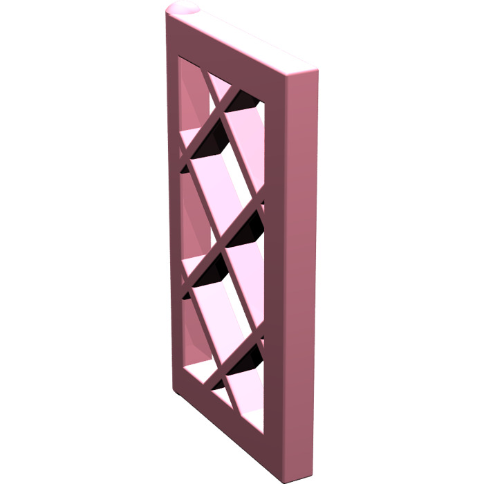 Lego pink window 1 x 2 x 3 latticed pane unreinforced for 1 x 3 window