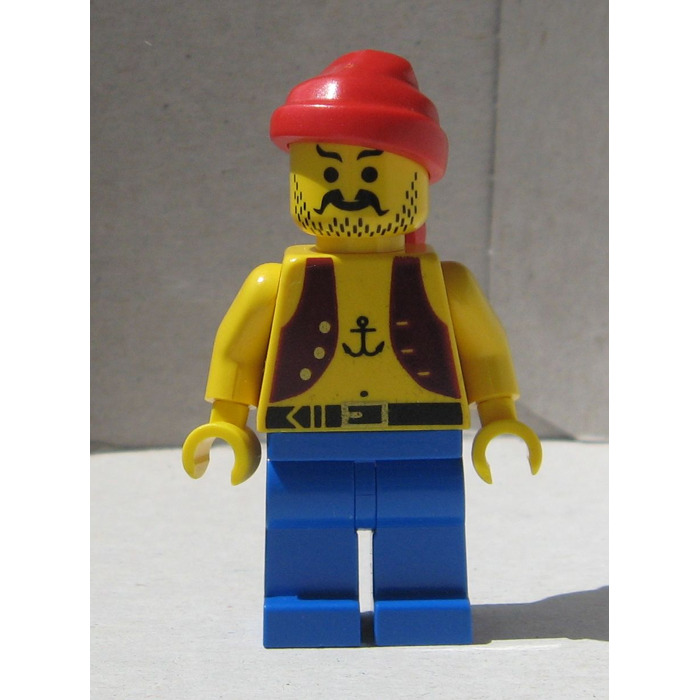 lego pirate with anchor tattoo minifigure - Lego Pirate