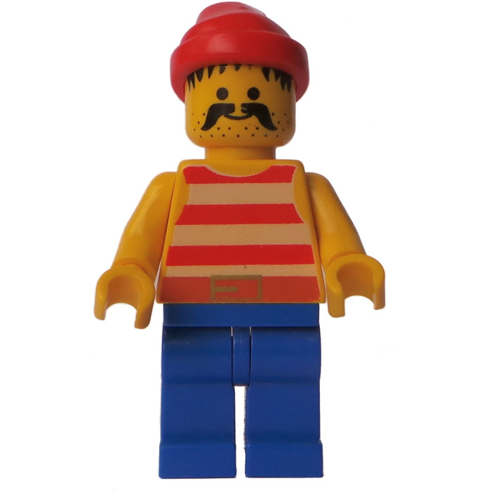 lego pirate with red bandana and large moustache minifigure - Lego Pirate