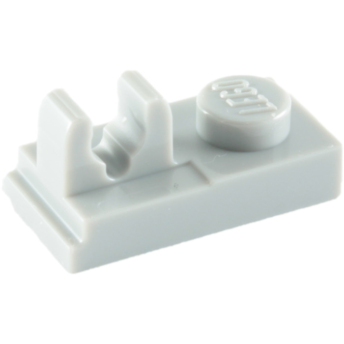 1x1 White Plate w// Connector 8 Clip on Top Bricks ~ New Lego Parts