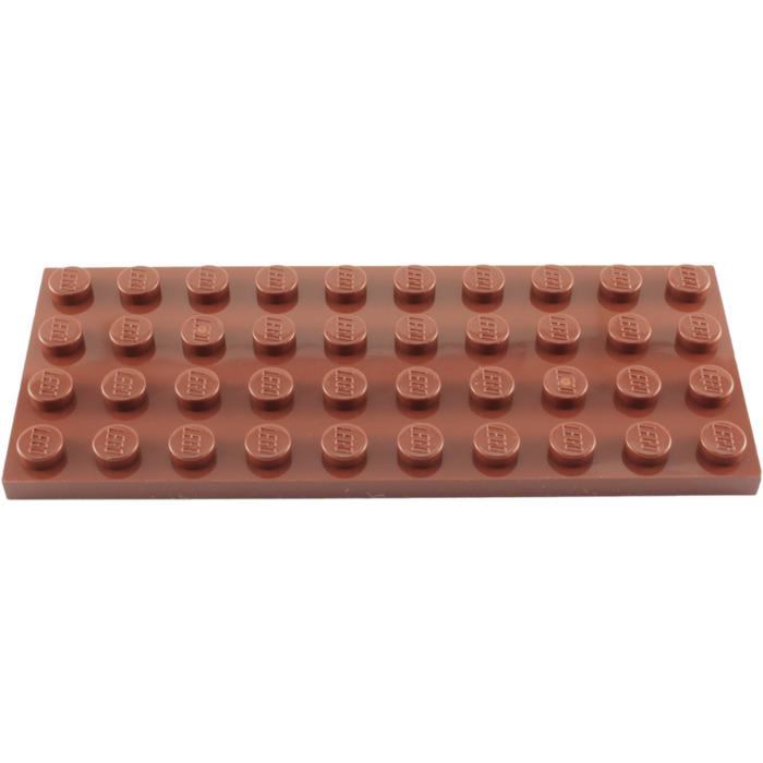10 NEW LEGO Plate 2 x 12 BRICKS Reddish Brown