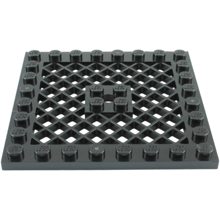LEGO Dark Gray 8x8 Plate Modified With Grille Base Plate New Lot Of 2