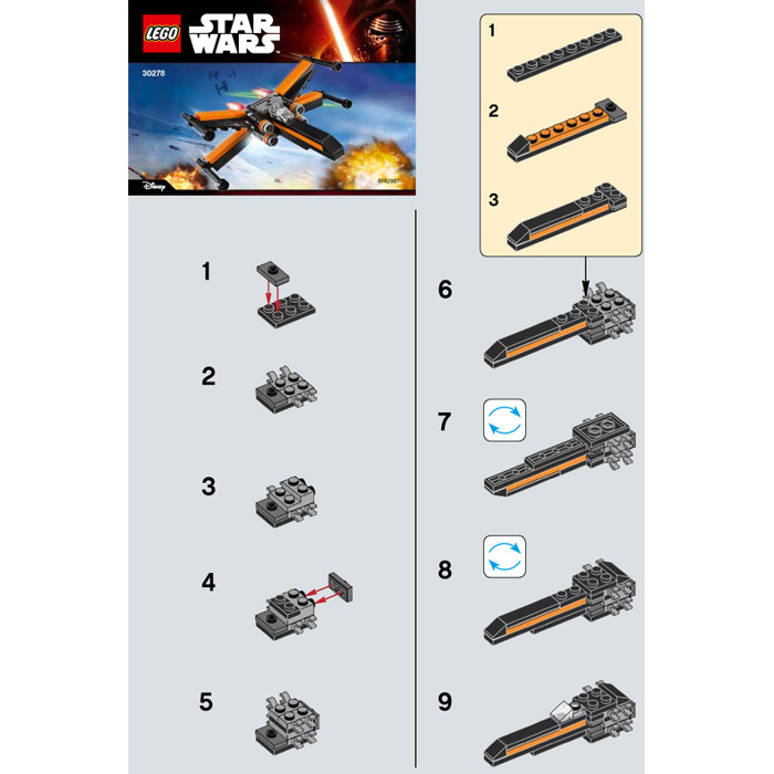 LEGO Poe's X-wing Fighter Set 30278 Instructions | Brick Owl - LEGO ...