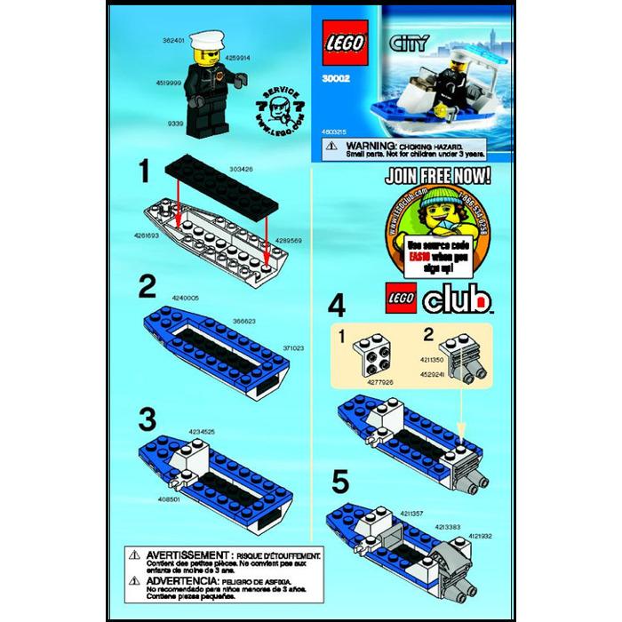Lego Police Boat Set 30002 Instructions Brick Owl Lego Marketplace