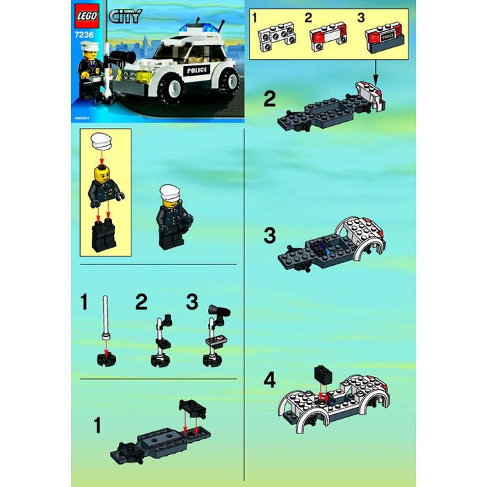 Lego police car set 7236 instructions brick owl lego marketplace - Lego camion police ...