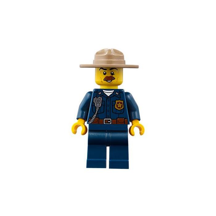 LEGO Policeman Minifigure Head (Recessed Solid Stud ...