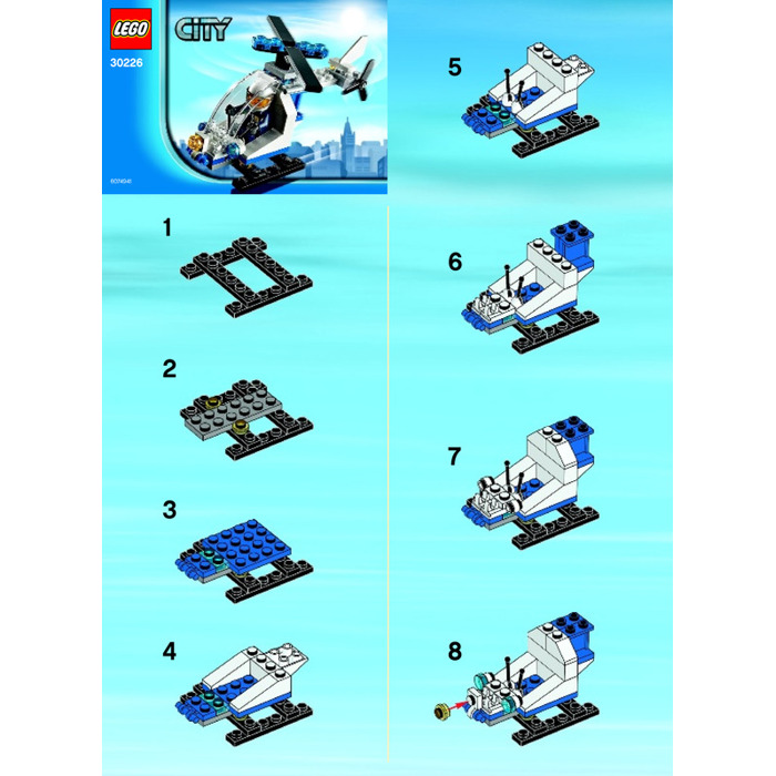 Lego Police Helicopter Instructions