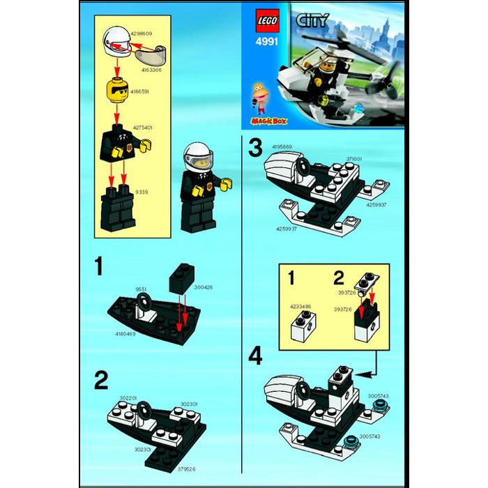 Lego Police Helicopter Set 4991 Instructions Brick Owl Lego