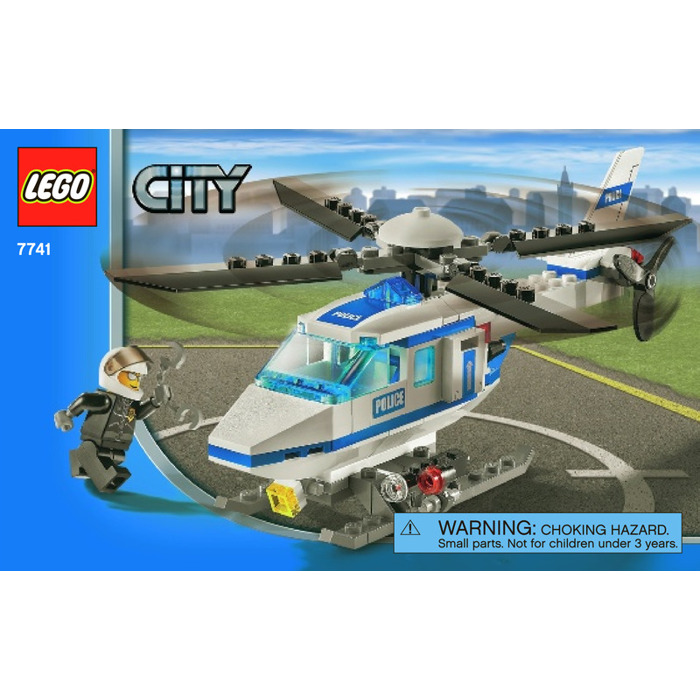 lego police helicopter set 7741 instructions brick owl