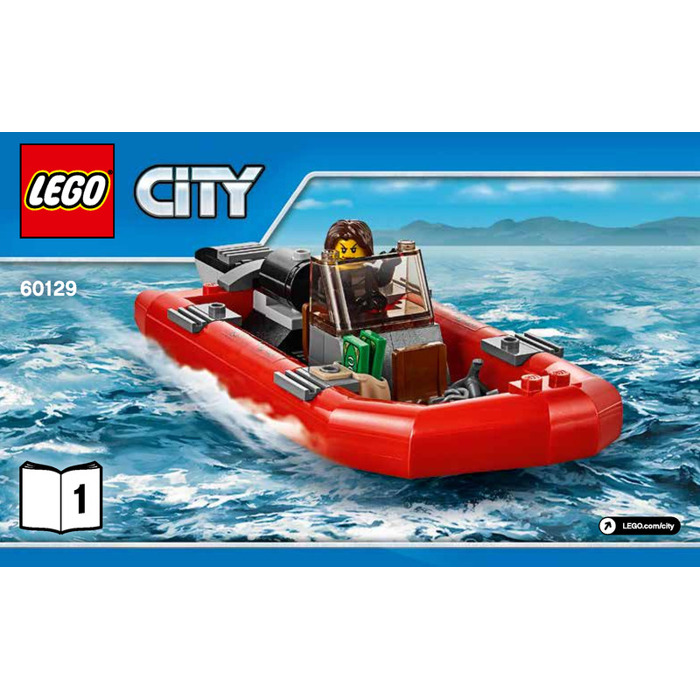 lego police patrol boat set 60129 instructions