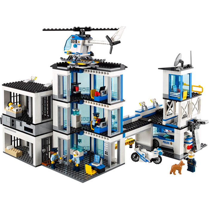 how to build a lego police station
