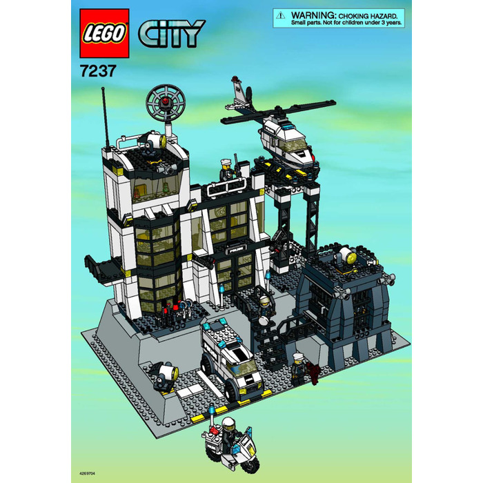 Lego Police Station With Light Up Minifig Set 7237 1 Instructions
