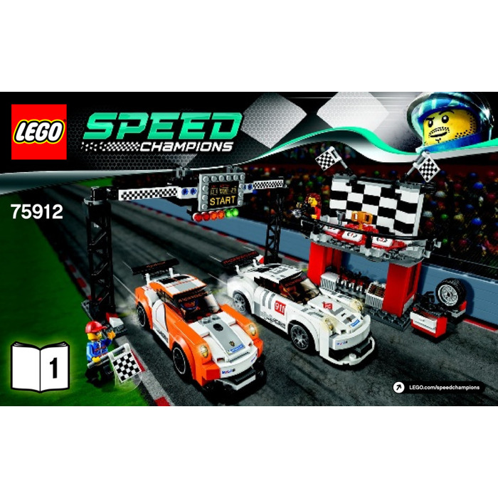 lego porsche 911 gt finish line set 75912 instructions. Black Bedroom Furniture Sets. Home Design Ideas