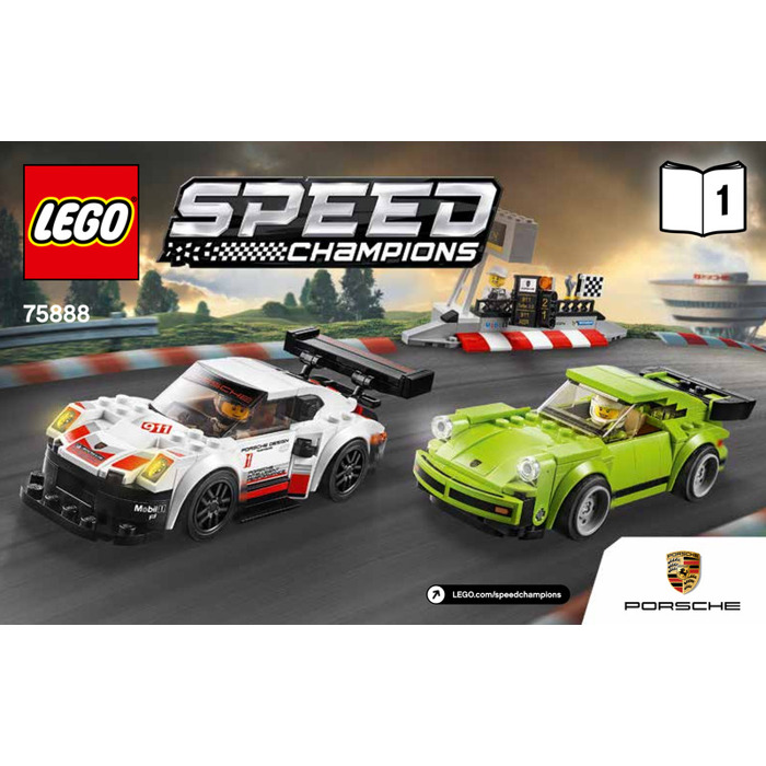 lego porsche 911 rsr and 911 turbo 3 0 set 75888. Black Bedroom Furniture Sets. Home Design Ideas