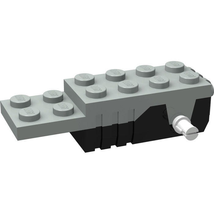 Lego Pullback Motor 6 X 2 X 1 13 With Black Base And White Shafts
