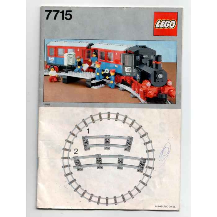 Lego Push Along Passenger Steam Train Set 7715 Instructions Brick