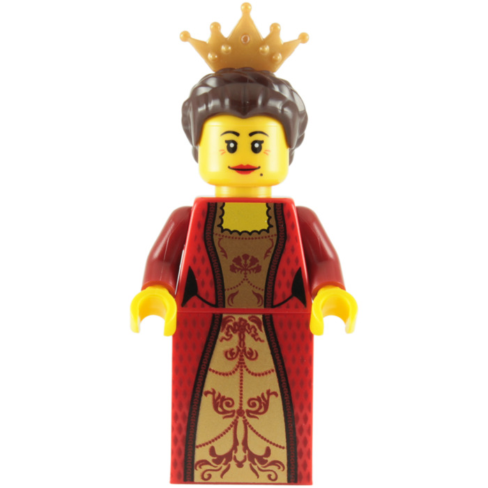 LEGO Queen with Red Dress and Crown Minifigure   Brick Owl ...