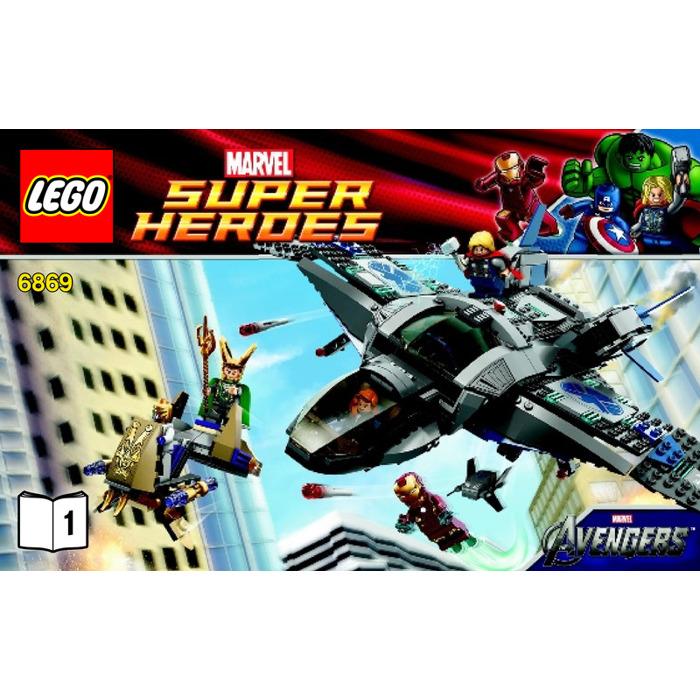 Lego quinjet aerial battle set 6869 instructions brick for Siege lego france