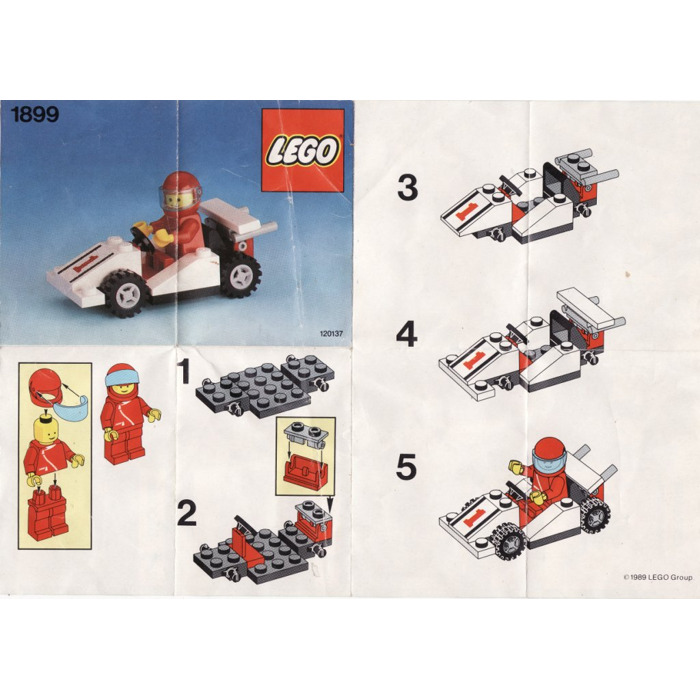 Lego Race Car Number 1 Set 1899 Instructions Brick Owl Lego